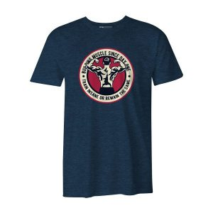 Building Muscle T Shirt Heather Denim
