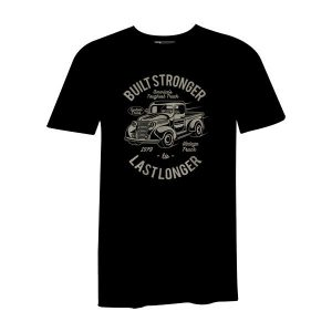 Built Stronger T Shirt Black