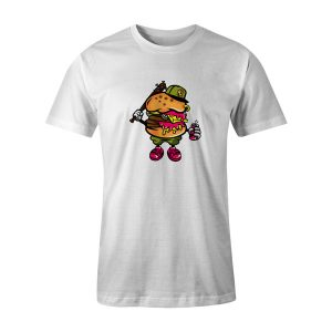 Burger Bastard T Shirt White