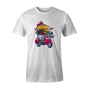 Burger Scooter T Shirt White