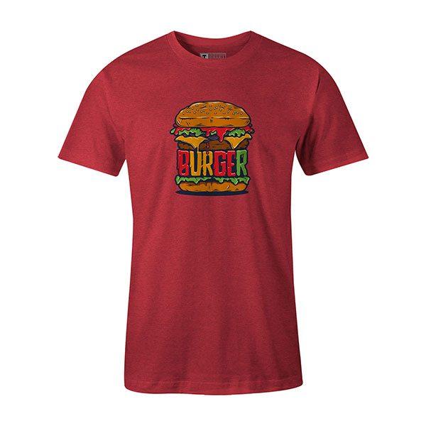 Burger T shirt heather red