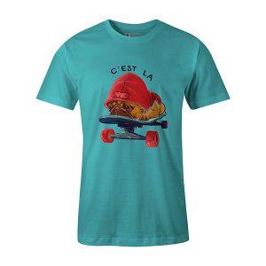 C est La Vie T shirt baby blue