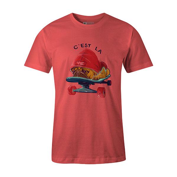 C est La Vie T shirt coral