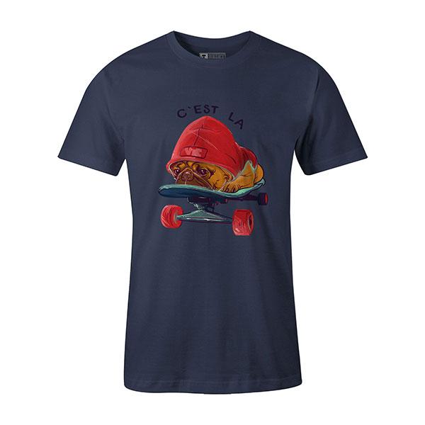 C est La Vie T shirt heather denim