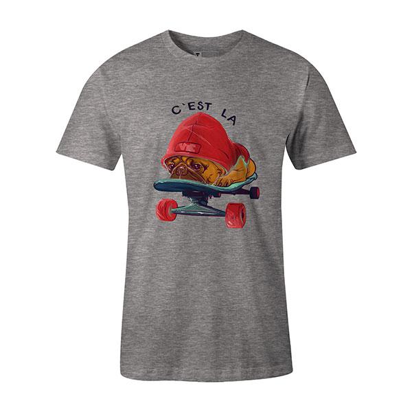 C est La Vie T shirt heather grey