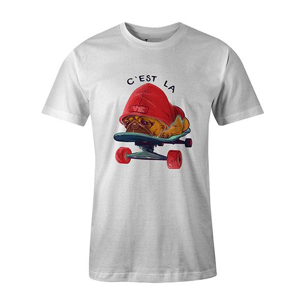 C est La Vie T shirt white