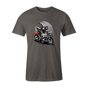 Cafe Helmet Racer T Shirt Charcoal