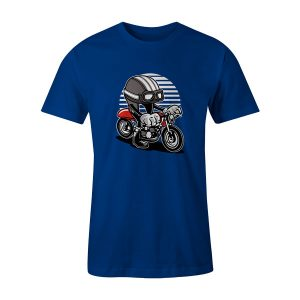 Cafe Helmet Racer T Shirt Royal