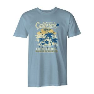California Beach T Shirt Baby Blue