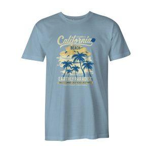 California Beach T Shirt Baby Blue