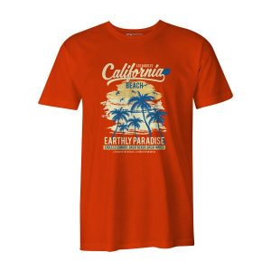 California Beach T Shirt Orange