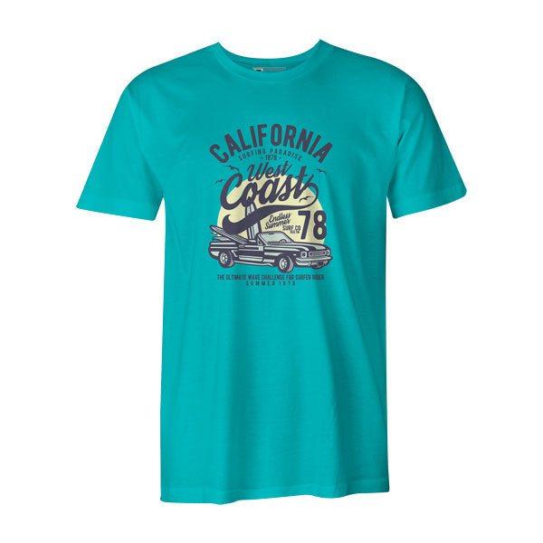 California West Coast T Shirt Aqua