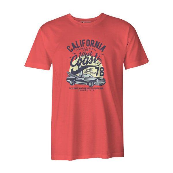 California West Coast T Shirt Coral