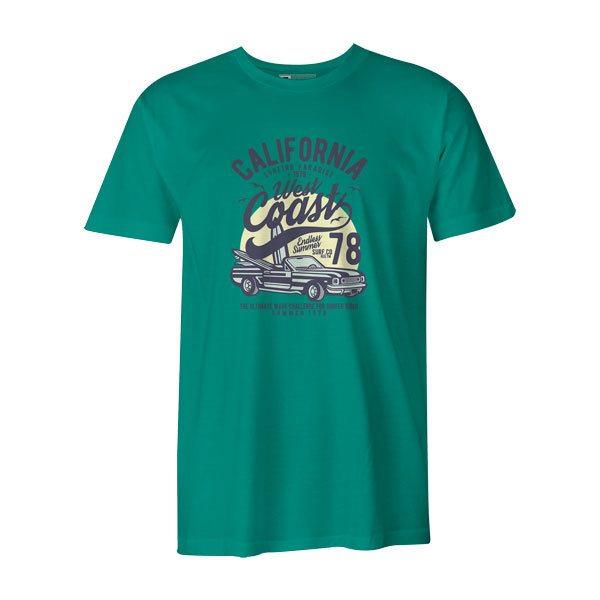 California West Coast T Shirt Teal