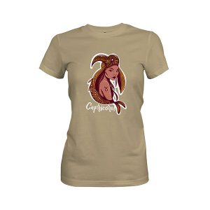 Capricorn T shirt light olive