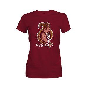 Capricorn T shirt maroon