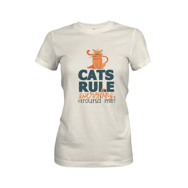 Cats Rule Everything Around Me T Shirt Ivory