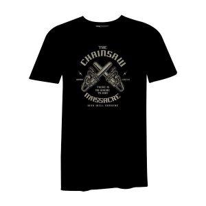 Chainsaw Massacre T Shirt Black