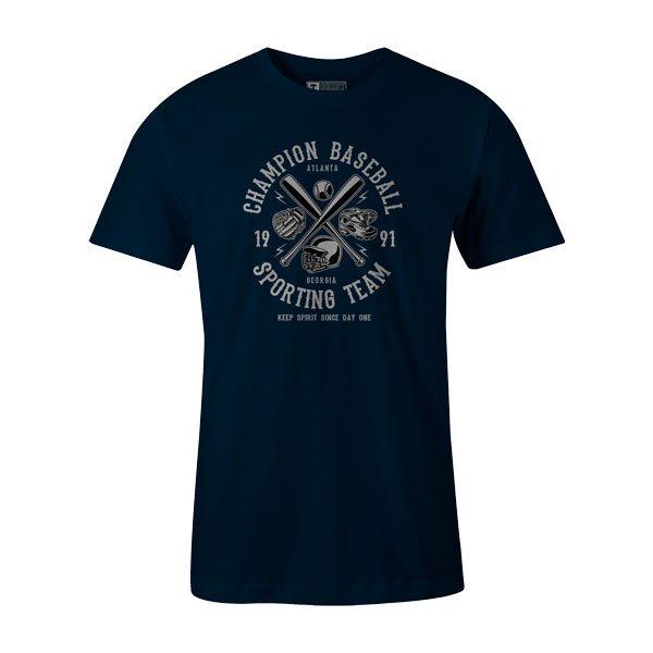 Champion Baseball T Shirt Navy