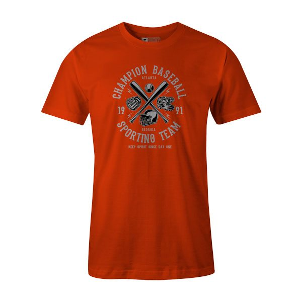 Champion Baseball T Shirt Orange