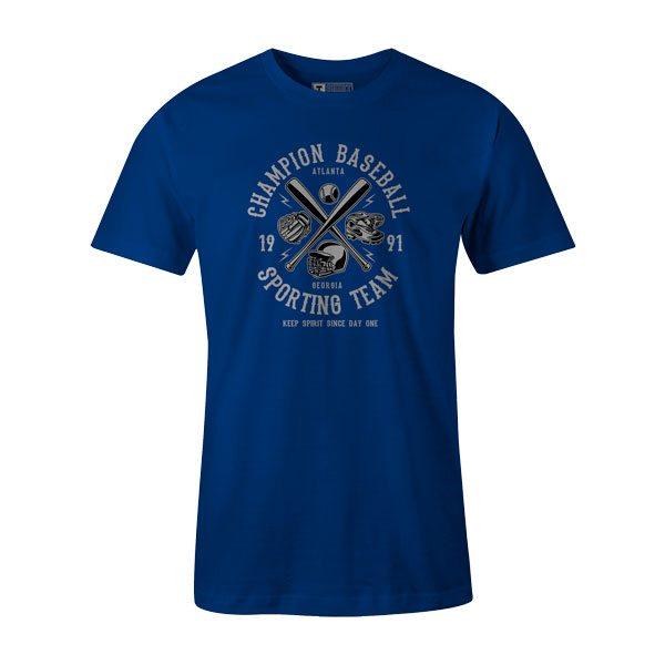 Champion Baseball T Shirt Royal