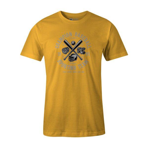 Champion Baseball T Shirt Sunshine