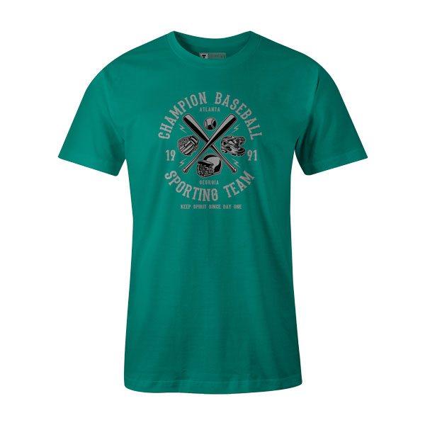 Champion Baseball T Shirt Teal