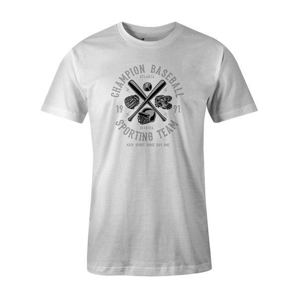 Champion Baseball T Shirt White