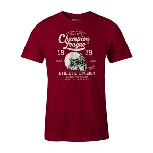 Champion League T Shirt Cardinal