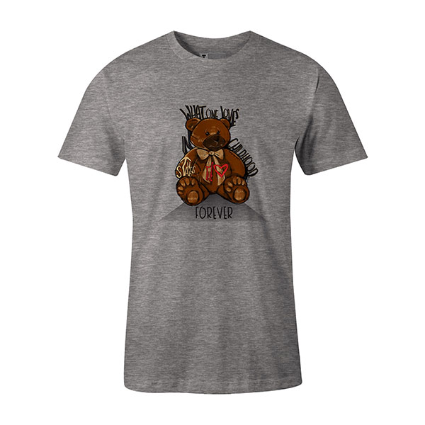 Childhood T shirt heather grey