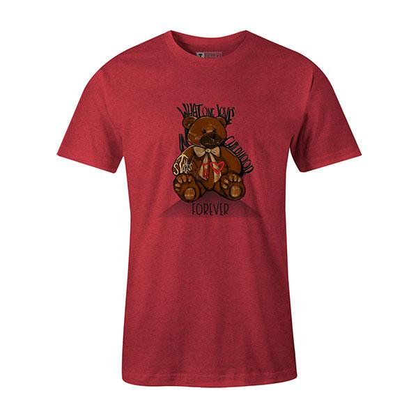 Childhood T shirt heather red