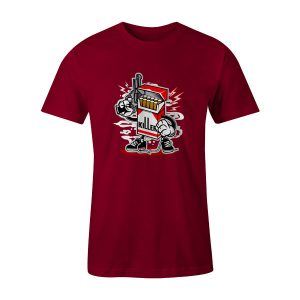 Cigarette Killer T Shirt Cardinal