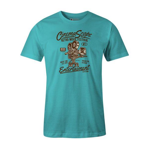 Cinema Scope T Shirt Aqua