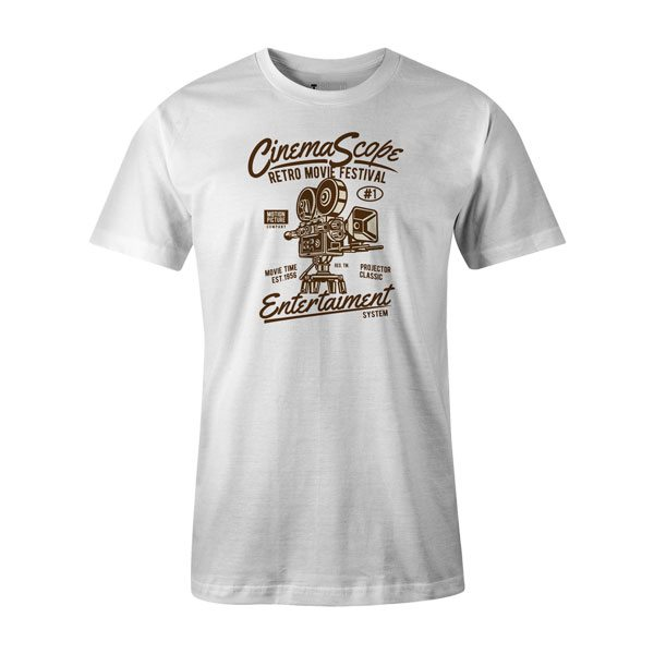 Cinema Scope T Shirt White