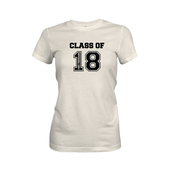 Class of 2018 T Shirt Ivory