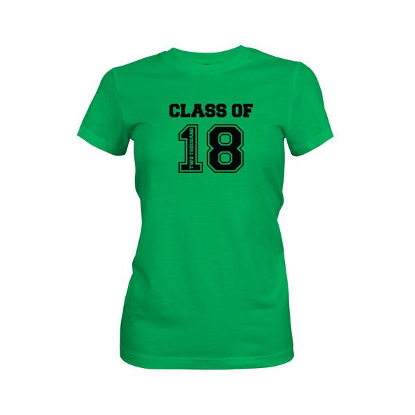 Class of 2018 T Shirt Kelly Green