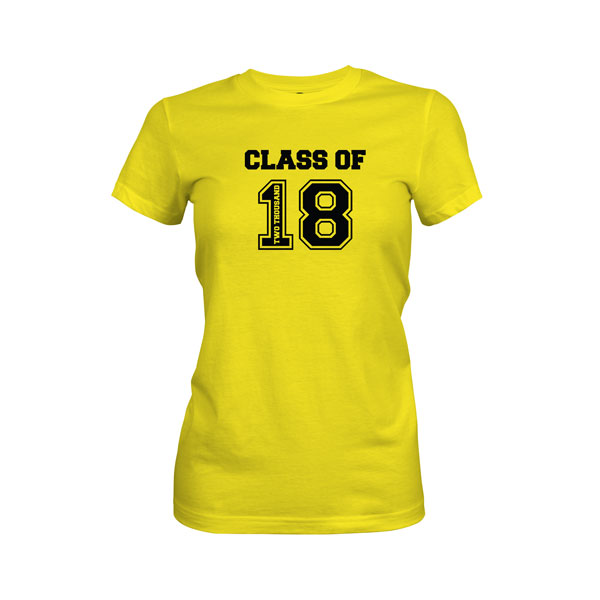 Class of 2018 T Shirt Vibrant Yellow