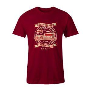Classic Car Show T Shirt Cardinal