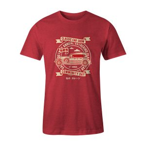 Classic Car Show T Shirt Heather Red