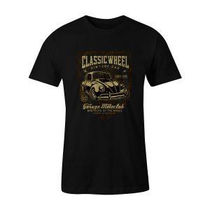 Classic Wheel T Shirt Black