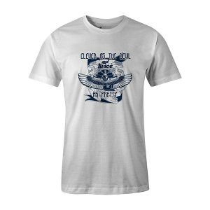 Clever As The Devil And Twice As Pretty T shirt white