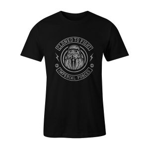 Cloned To Fight T Shirt Black