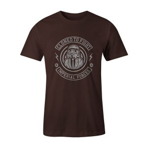 Cloned To Fight T Shirt Brown