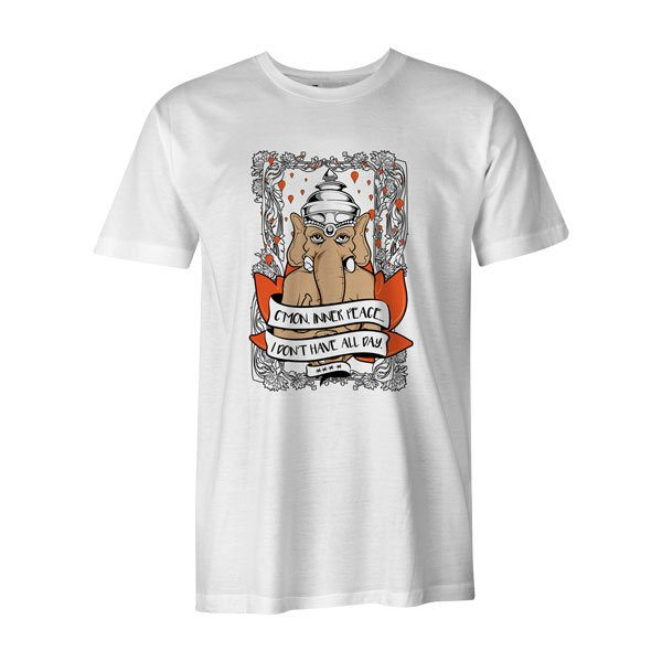 Cmon Inner Peace T Shirt White