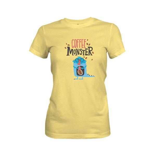 Coffee Monster T Shirt Banana Cream