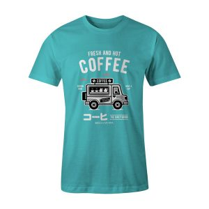 Coffee Van T Shirt Aqua