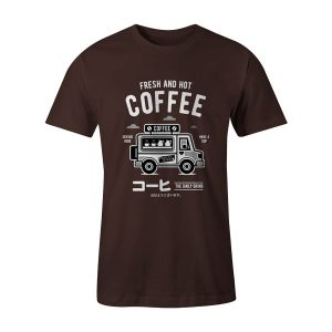 Coffee Van T Shirt Brown