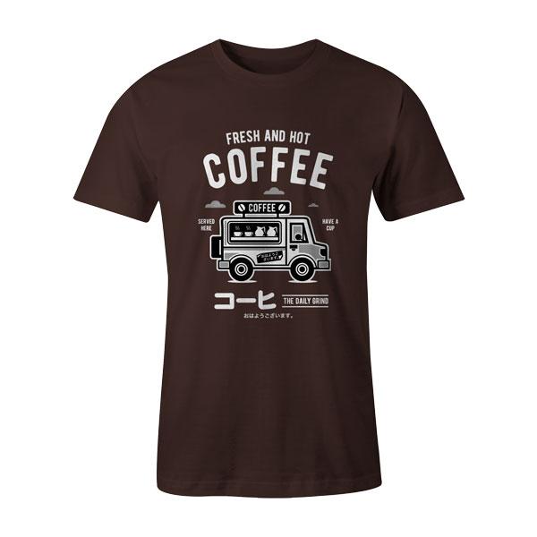 Coffee Van T Shirt Brown