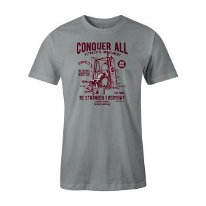 Conquer All T Shirt Silver