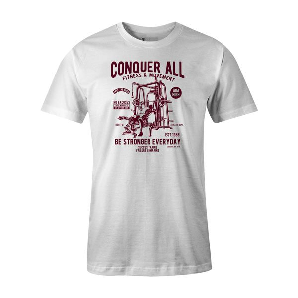 Conquer All T Shirt White
